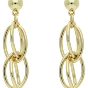 Front Row Gold Colour Drop Chain Earrings
