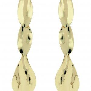 Front Row Gold Colour Drop Earrings