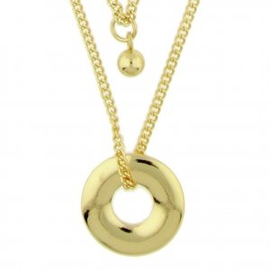Front Row Gold Colour Layered Necklace Set