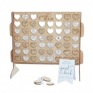 Ginger Ray Four In A Row Wedding Guest Book