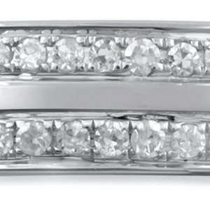 Revere 9ct White Gold 0.10cttw Diamond Two Row Band Ring -P